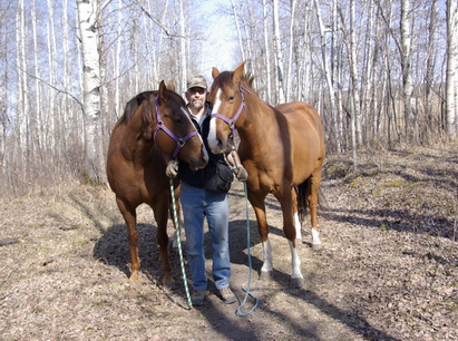 brian with horses